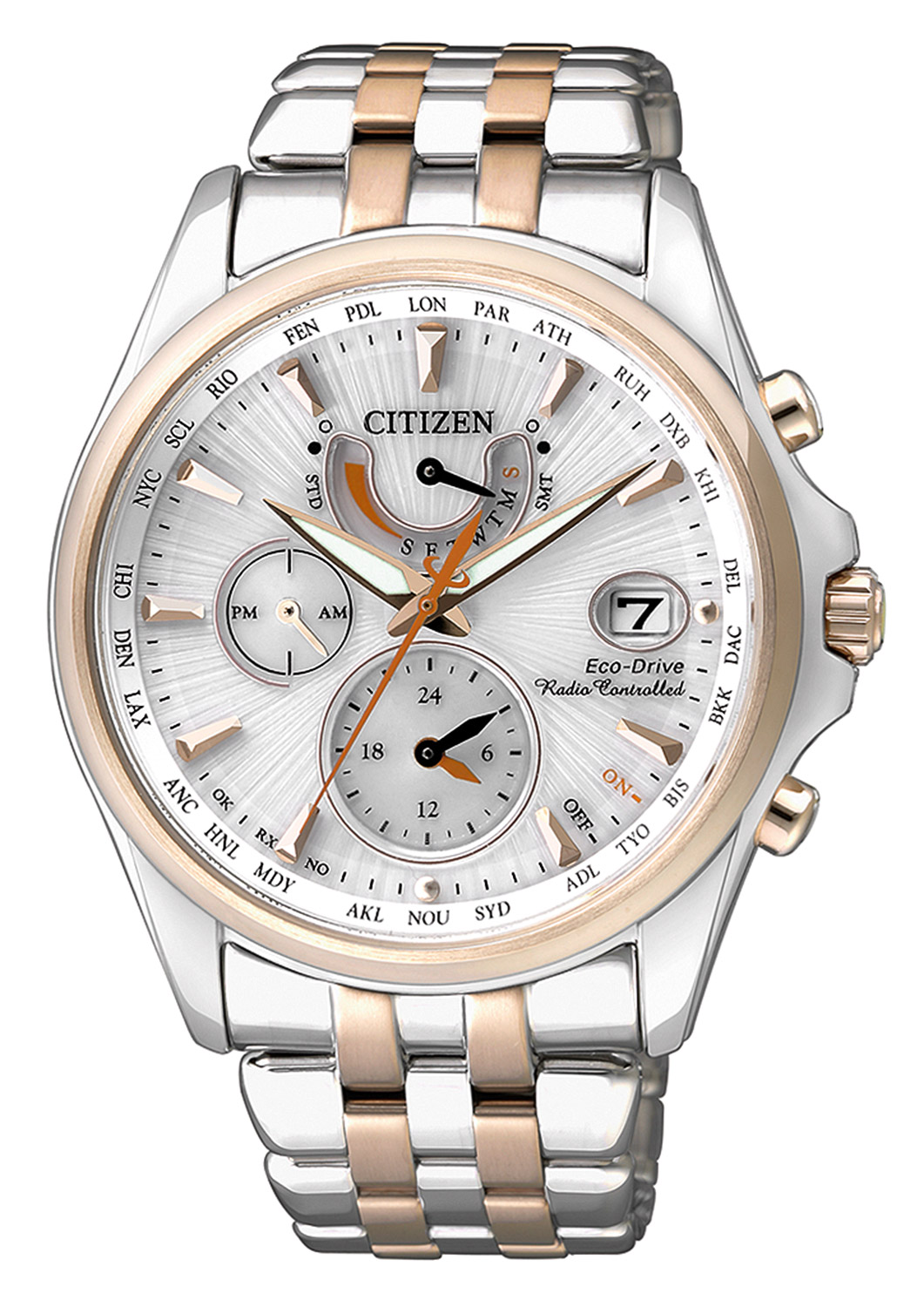 citizen eco drive ladies radio controlled watch fc0014 54a. Black Bedroom Furniture Sets. Home Design Ideas