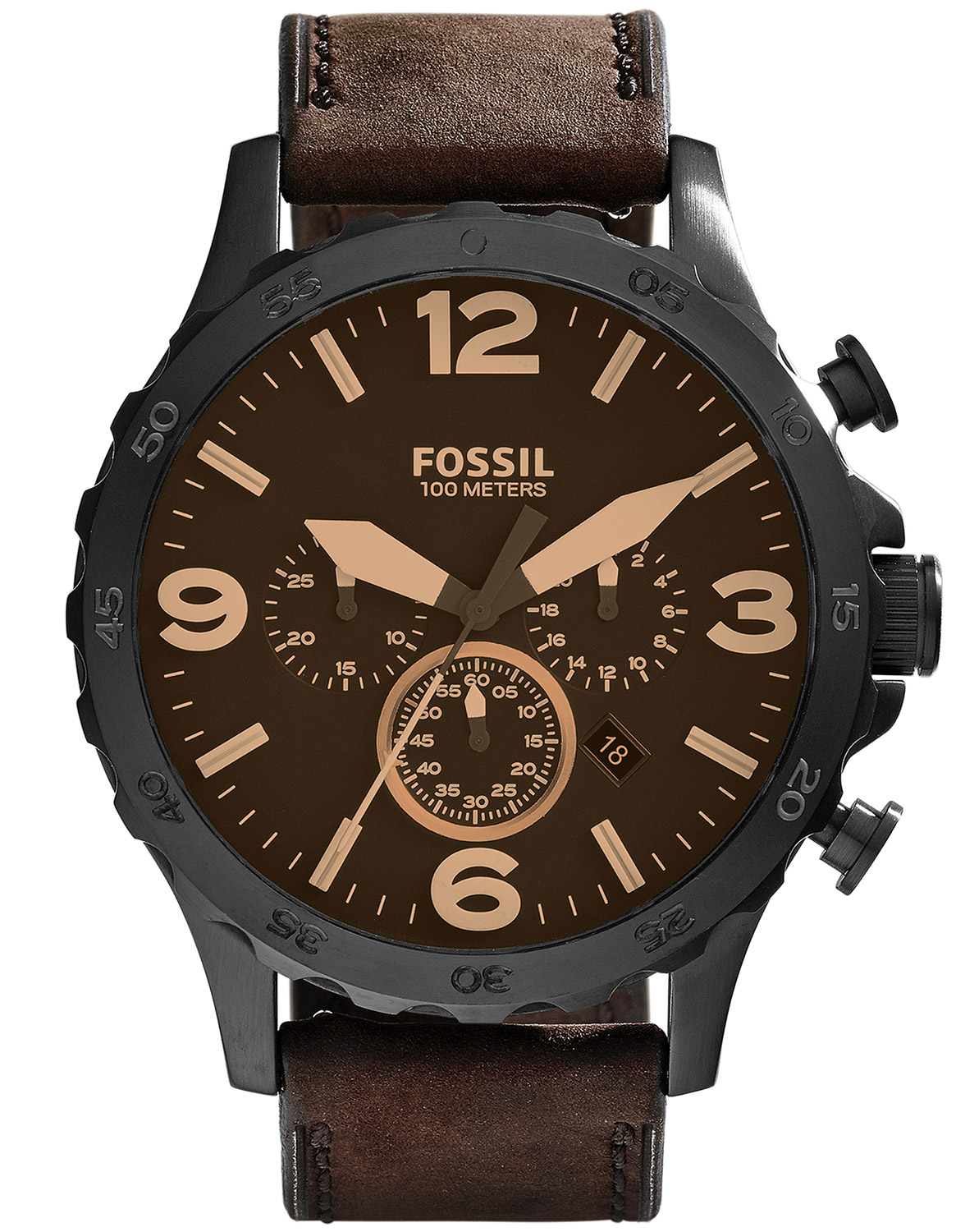 fossil nate herren chronograph jr1487 uhrcenter uhren shop. Black Bedroom Furniture Sets. Home Design Ideas