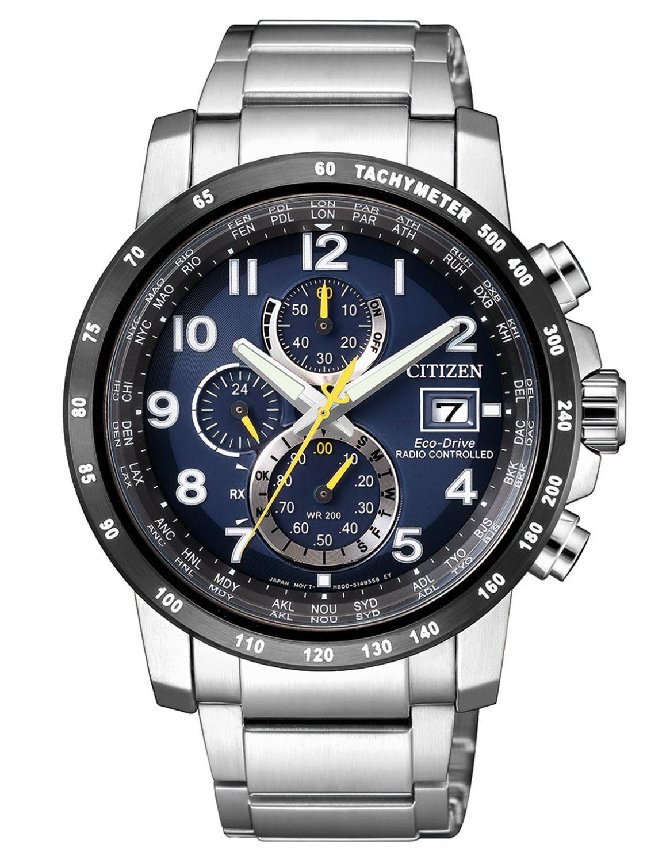 Citizen eco drive chronograph mens radio controlled watch for Citizen eco dive
