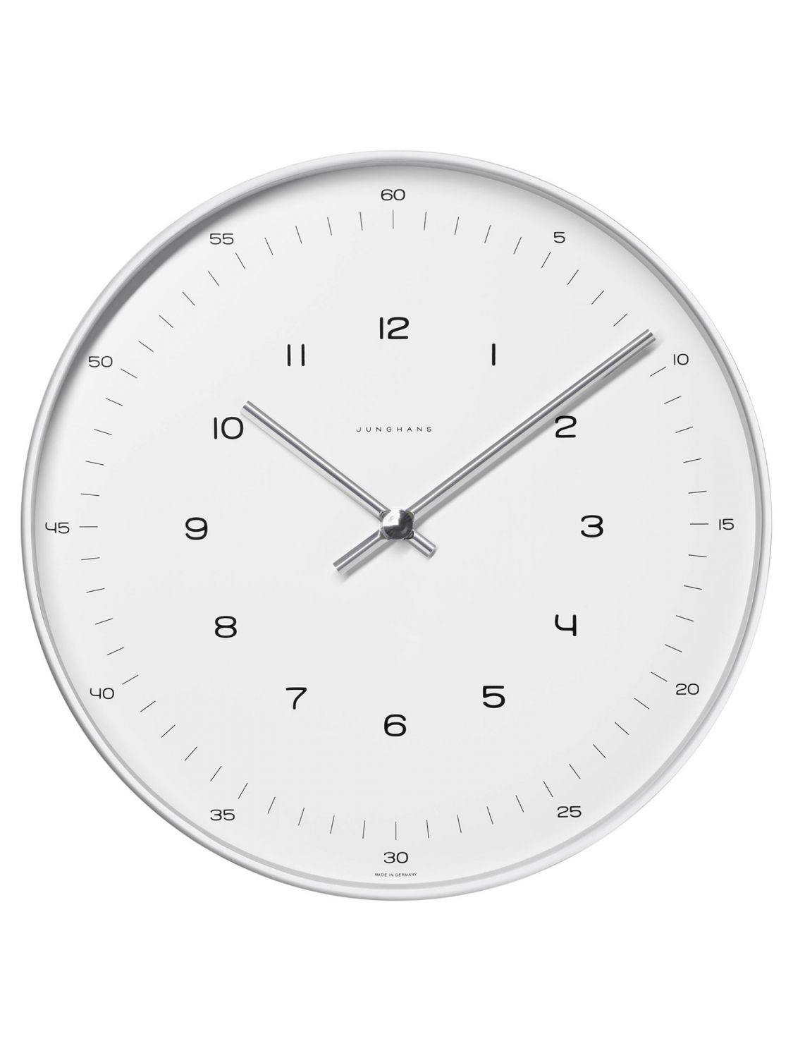 junghans 374 max bill radio controlled wall clock. Black Bedroom Furniture Sets. Home Design Ideas