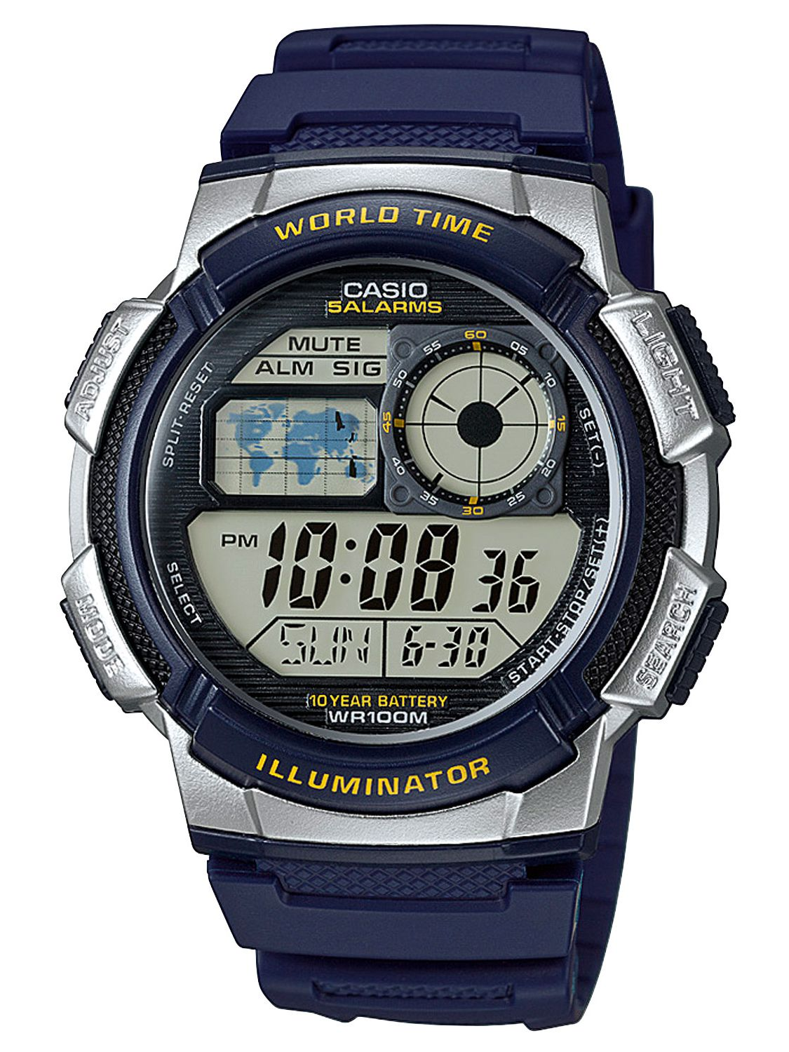 casio collection mens digital ae 1000w 2avef