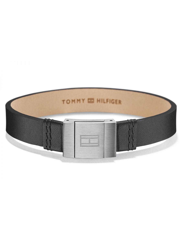 tommy hilfiger mens leather bracelet casual black 2700950. Black Bedroom Furniture Sets. Home Design Ideas