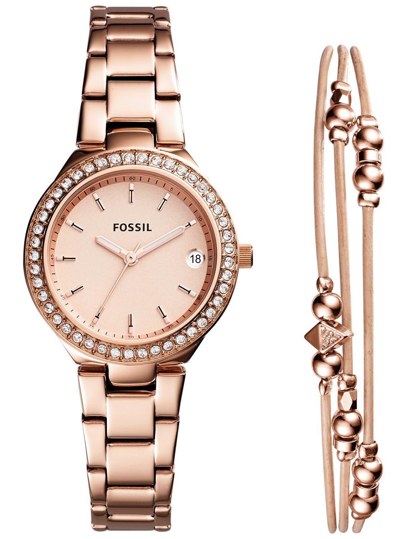 fossil gift set ladies watch blane bracelet rose es4337set. Black Bedroom Furniture Sets. Home Design Ideas