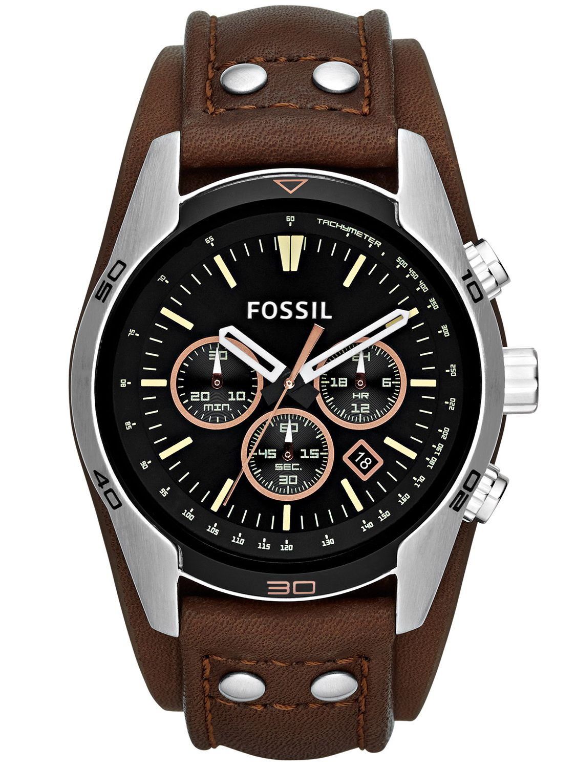 fossil coachman herren chronograph ch2891 uhrcenter. Black Bedroom Furniture Sets. Home Design Ideas