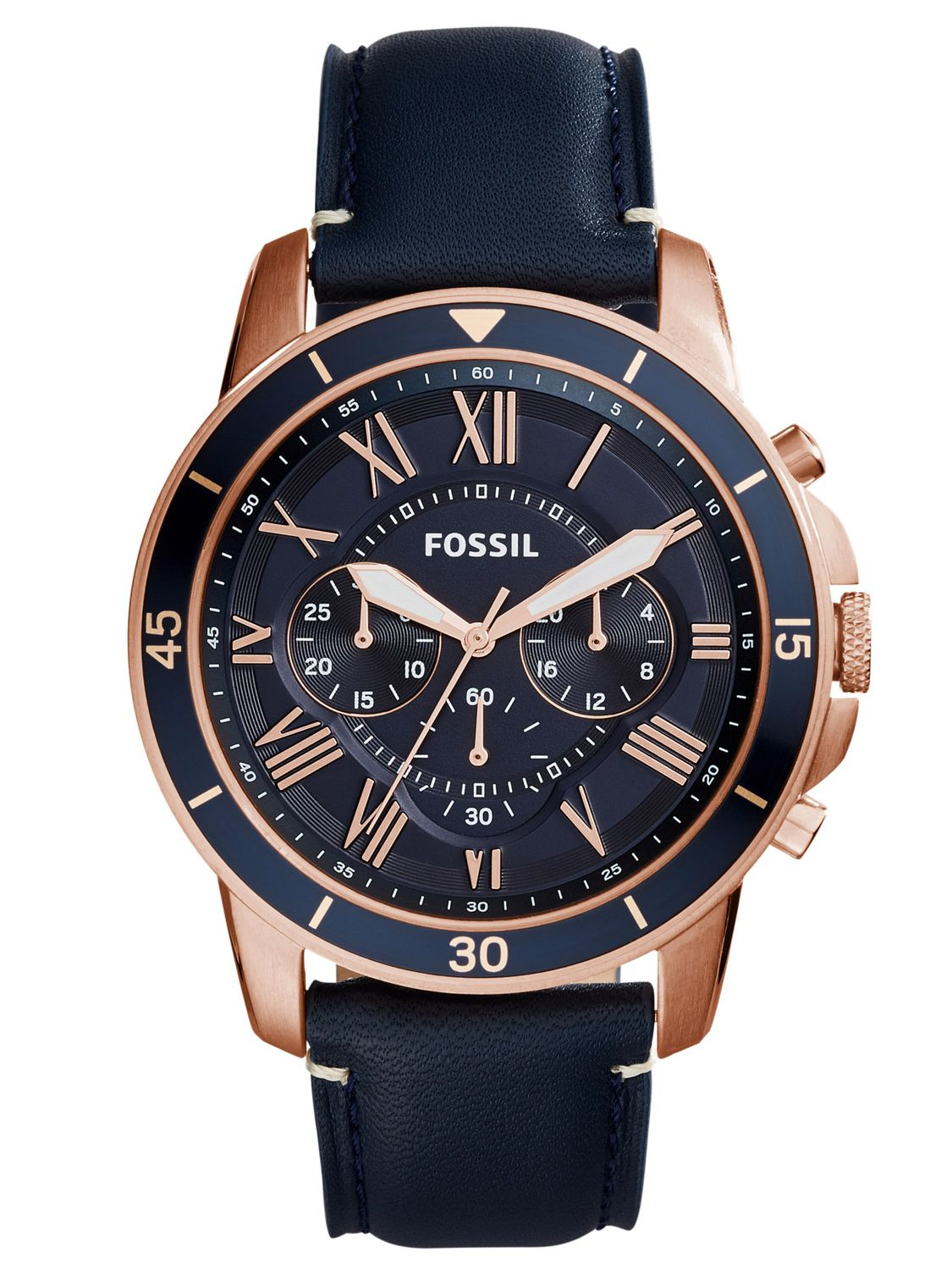 fossil mens watch grant sport chronograph blue fs5237. Black Bedroom Furniture Sets. Home Design Ideas