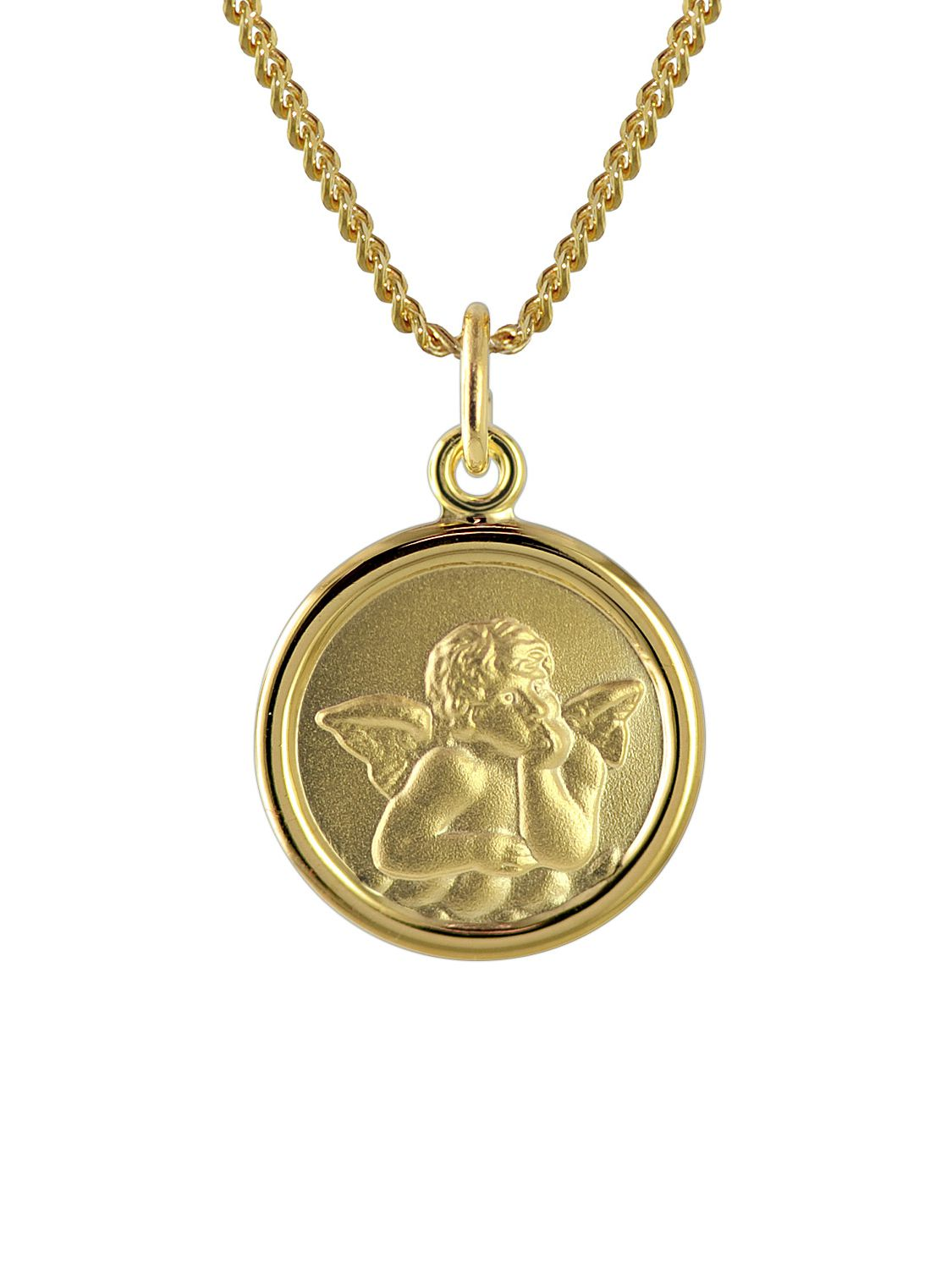 trendor gold engel anh nger f r kinder an 40 cm goldplattierter kette 73426. Black Bedroom Furniture Sets. Home Design Ideas
