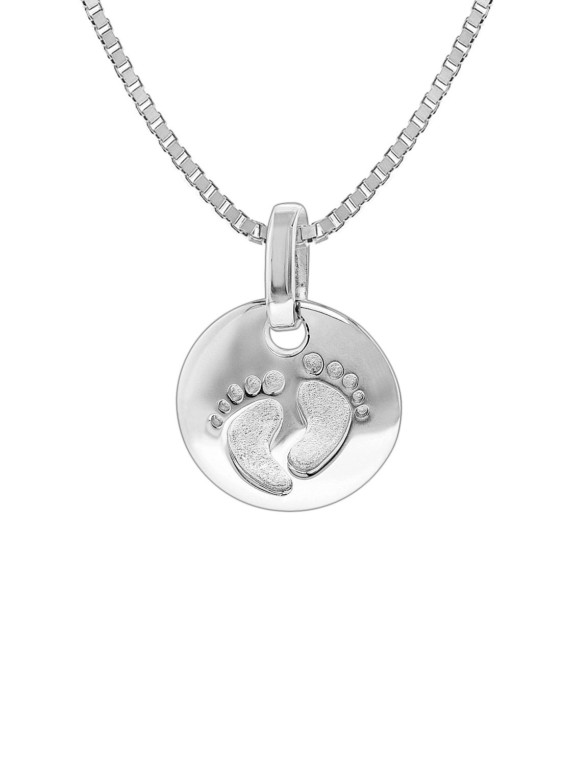 Trendor silver necklace with baby footprint pendant 35860 trendor 35860 silver necklace with baby footprint pendant image 1 aloadofball Choice Image