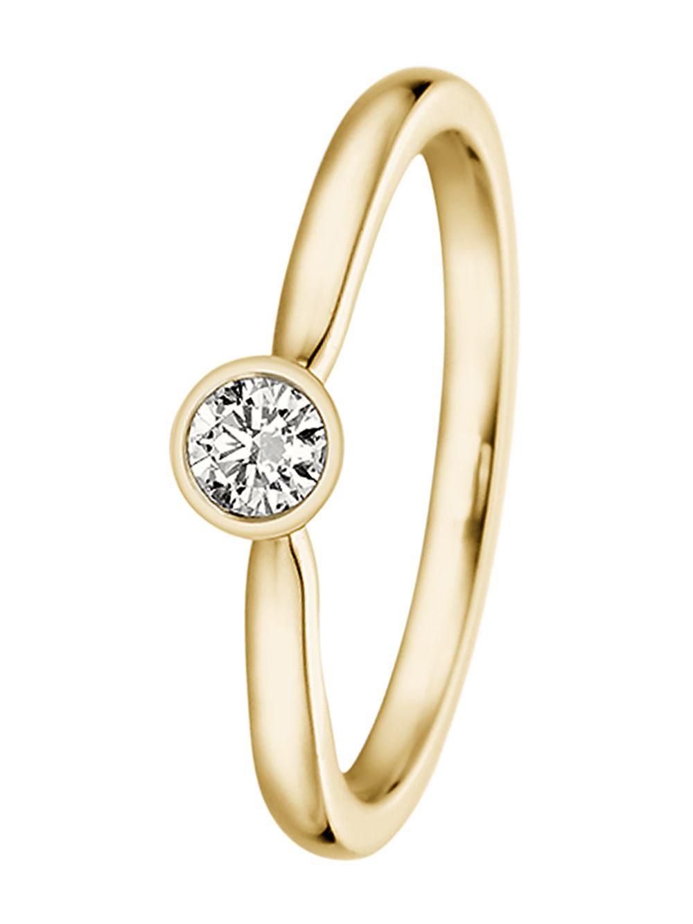TRENDOR Ladies Ring Gold with Diamond 532494 • uhrcenter
