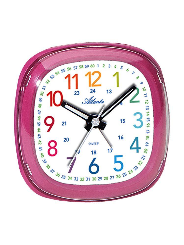 Atlanta 1736 8 Kids Alarm Clock Pink Uhrcenter Clocks Shop