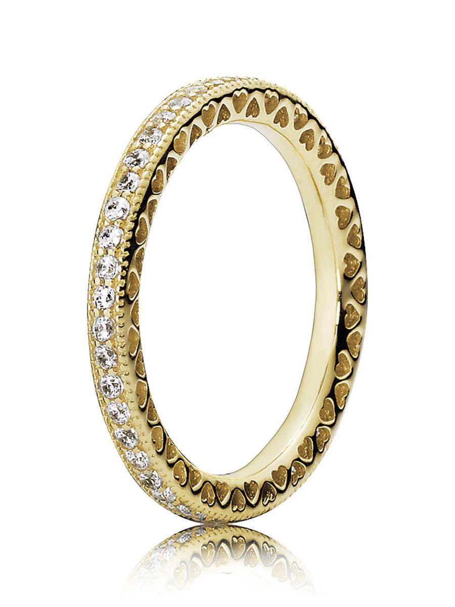 PANDORA Ladies Gold Ring Hearts of Pandora 150181CZ