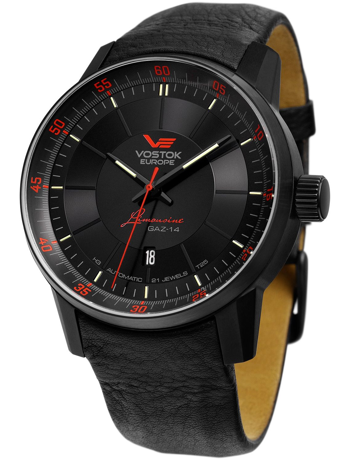 Vostok europe gaz 14 limousine automatic mens watch 5654140 for Vostok europe watches