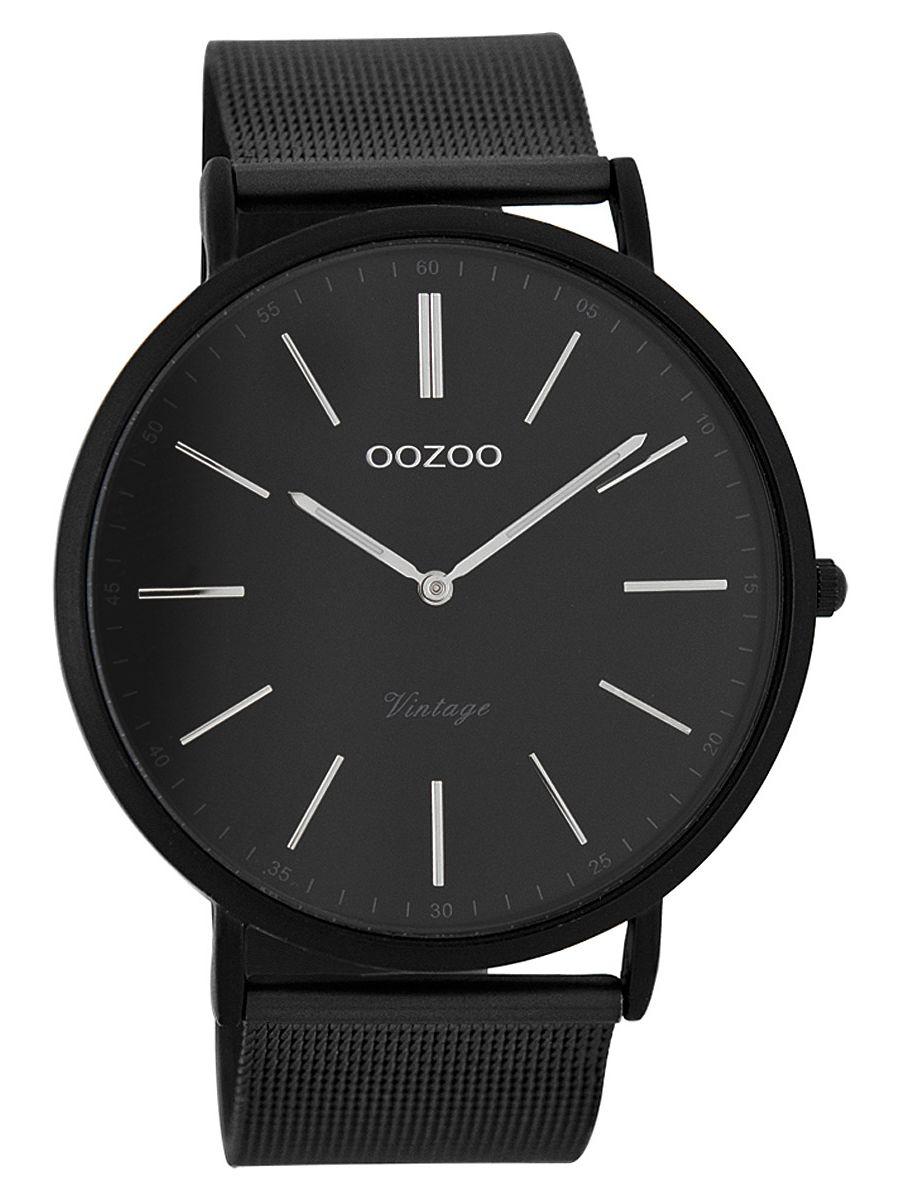 oozoo vintage herren armbanduhr schwarz 44 mm c7383. Black Bedroom Furniture Sets. Home Design Ideas