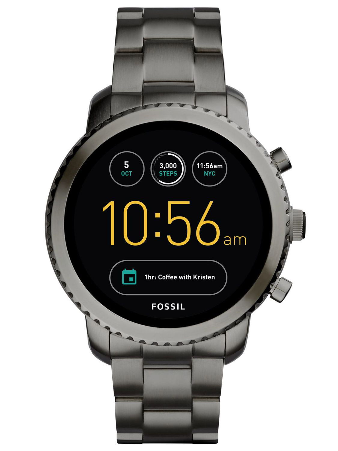 fossil q explorist mens smartwatch touchscreen ftw4001. Black Bedroom Furniture Sets. Home Design Ideas