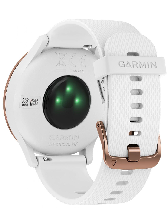 garmin vivomove hr sport damen smartwatch s m ros wei. Black Bedroom Furniture Sets. Home Design Ideas