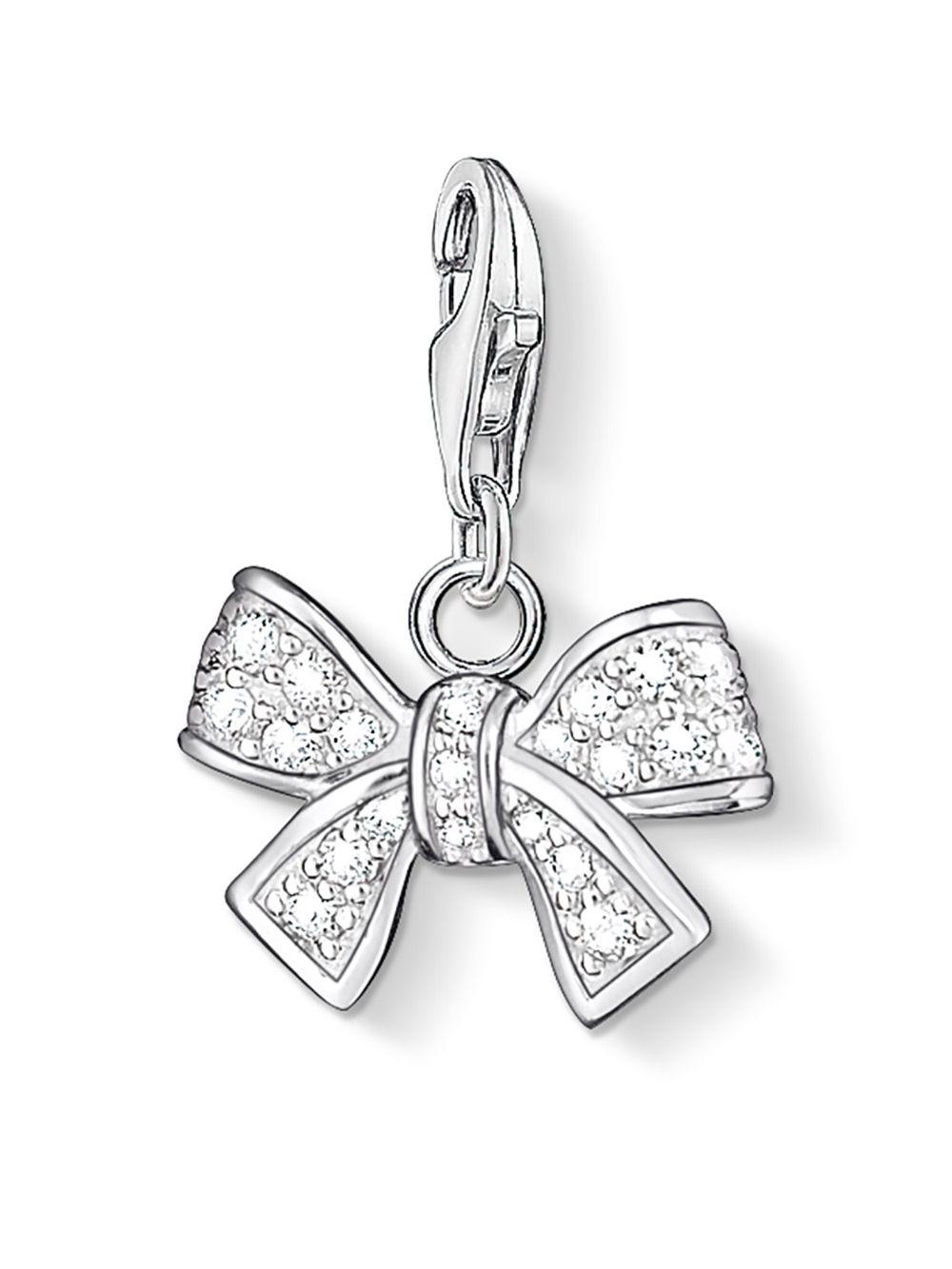 Thomas Sabo Thomas Sabo Charm pendant bow white 0843-051-14 3XTrYnqD