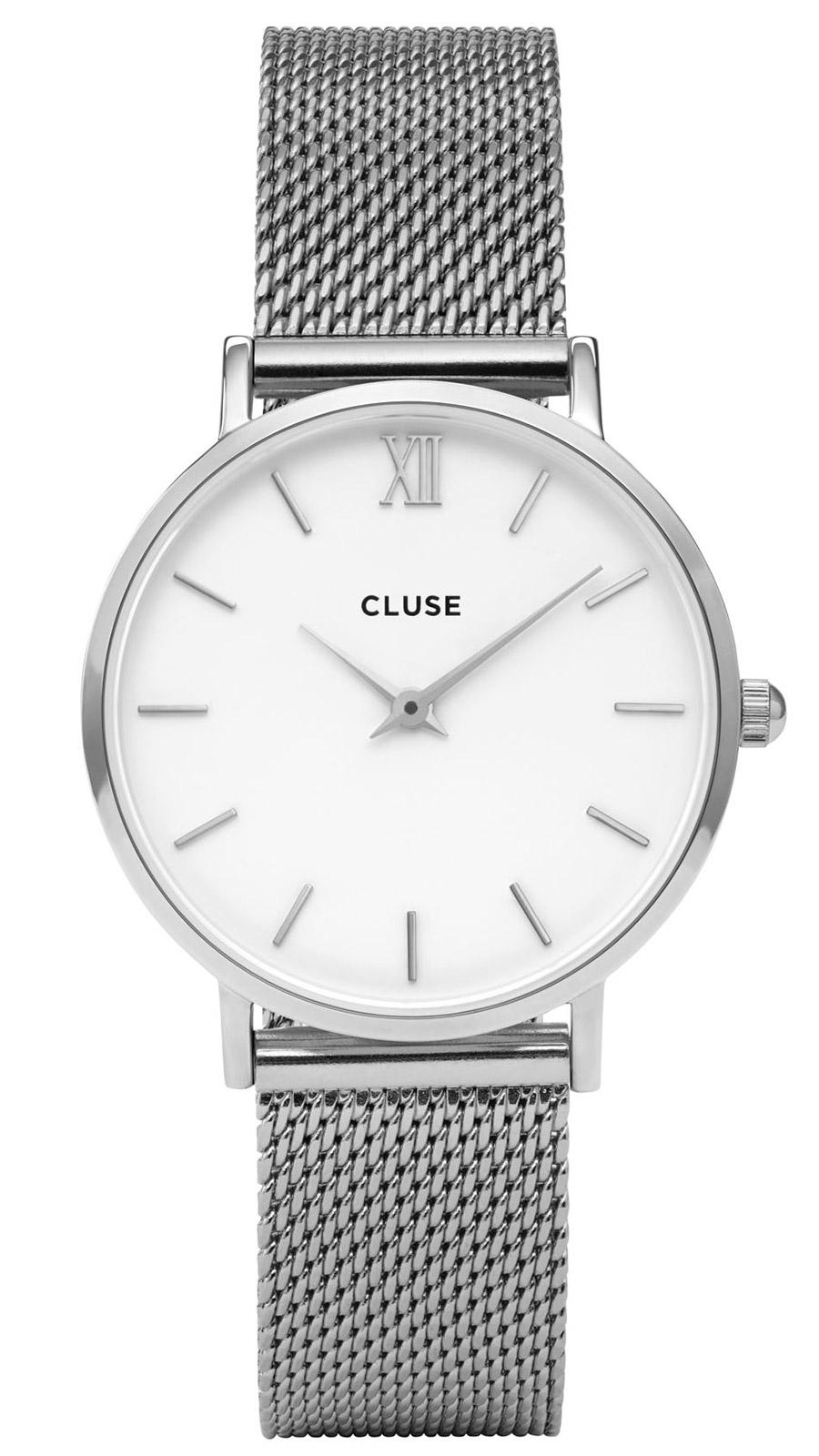 cluse minuit mesh silver white damenuhr cl30009 uhrcenter. Black Bedroom Furniture Sets. Home Design Ideas