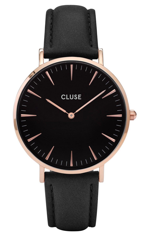 Damenuhren schwarz gold  CLUSE La Bohème Rose Gold Black Damenuhr CL18001