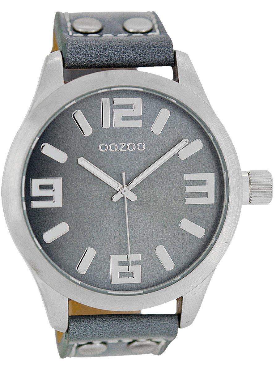 oozoo armbanduhr xl blaugrau 46 mm c1060 uhrcenter. Black Bedroom Furniture Sets. Home Design Ideas