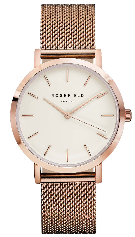 rosefield the mercer white rose gold armbanduhr mwr m42. Black Bedroom Furniture Sets. Home Design Ideas
