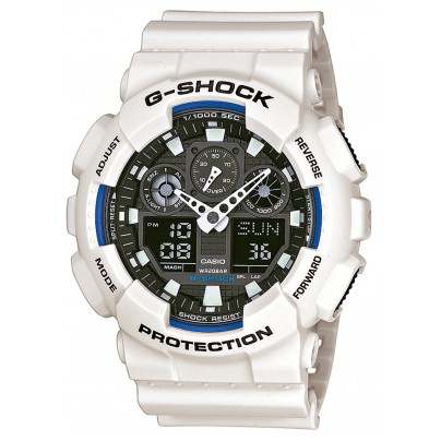 Casio GA-100B-7AER G-Shock AnaDigi Watch