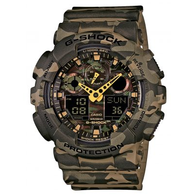 Casio GA-100CM-5AER G-Shock AnaDigi Herren-Armbanduhr 4971850055426