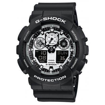Casio GA-100BW-1AER G-Shock Herren-Armbanduhr 4971850031215