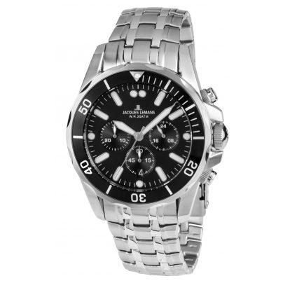 jacques lemans mens chronograph liverpool diver 1 1907ze