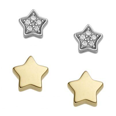 Fossil JFS00409998 Ohrstecker Set Silber Star 4053858733886