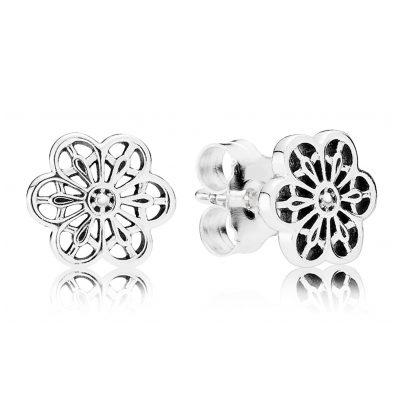 Pandora 290692 Silber-Ohrringe Blütenornament 5700302437188