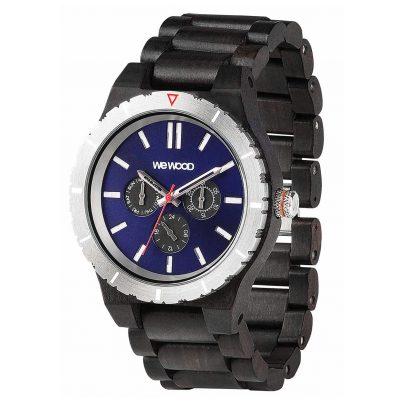 WeWood WW58001 Herren Holz-Armbanduhr Kappa MB Black Blue 0610373991852
