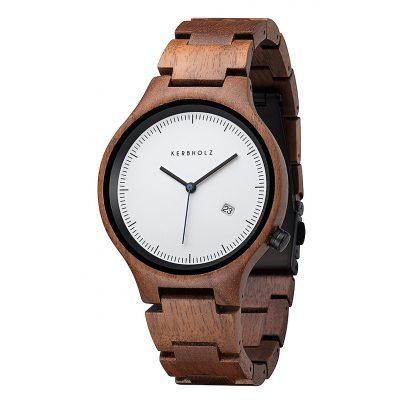 Kerbholz Lamprecht Date Walnuss Holz-Armbanduhr 4251240401171
