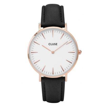 Cluse CL18008 La Bohème Rose Gold White Armbanduhr 8718924590263