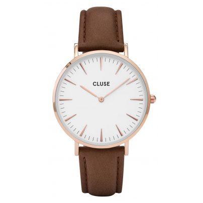 Cluse CL18010 La Bohème Rose Gold White Armbanduhr 8718924590287