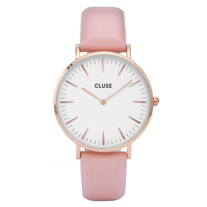 Cluse CL18014 La Bohème Rose Gold White/Pink Damenuhr 8718924590324