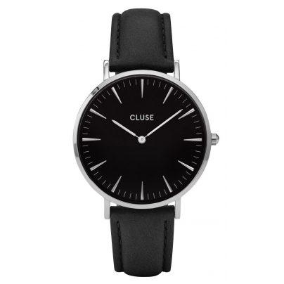 Cluse CL18201 La Bohème Silver Black Armbanduhr 8718924591550