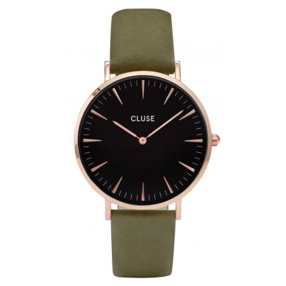 Cluse CL18024 La Bohème Rose Gold / Olive Green Damenuhr 8718924592717