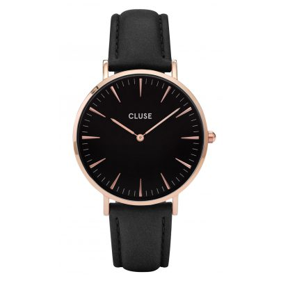 Cluse CL18001 La Bohème Rose Gold Black Damenuhr 8718924590195