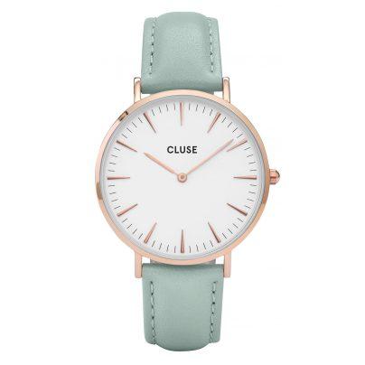 Cluse CL18021 La Bohème Rose Gold White/Pastel Mint Uhr 8718924592687