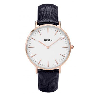 Cluse CL18029 La Bohème Rose Gold Midnight Blue Damenuhr 8718924595091