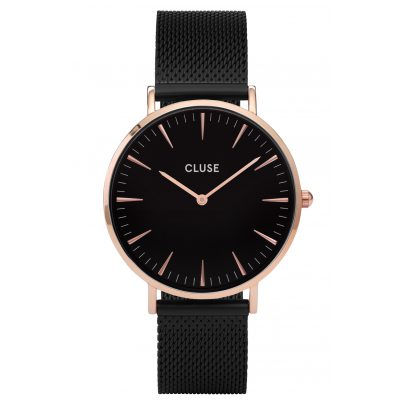 Cluse CL18034 Damenuhr La Bohème Mesh Rose Gold/Black 8718924597569