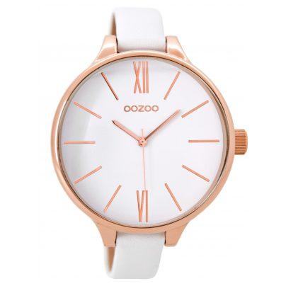 Oozoo C8789 XL Damen-Armbanduhr Weiß 45 mm 9879012516646