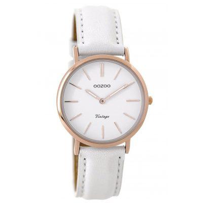 Oozoo C9317 Damenuhr Vintage Weiß/Rosé 32 mm 9879012522302