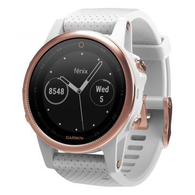 Garmin 010-01685-17 fenix 5S Saphir GPS Multisport Smartwatch Rosé/Weiß 0753759188528