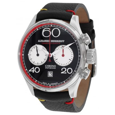 Alexander Shorokhoff AS.C01-4R Red Mechanischer Herren-Chronograph 4260479160551