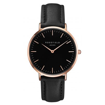Rosefield BBBR-B11 The Bowery Black/Rose Gold Armbanduhr 8719324227070