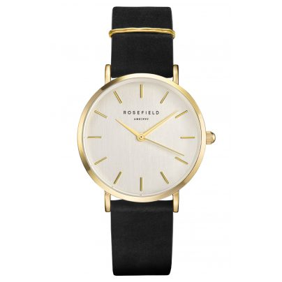 Rosefield WBLG-W71 Damen-Armbanduhr The West Village Schwarz/Gold 8719324227803