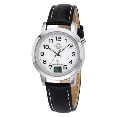 Master Time MTLA-10295-12L Damen-Funkuhr Basic Classic 4260091353874